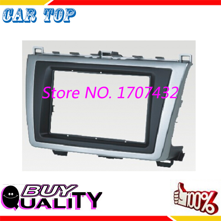 good quality 2 din Car DVD frame,DVD panel,Dash Kit,Fascia,Radio Frame,Audio frame Mazda 6 2009-2013 Atenza