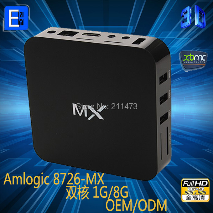 5pcs/lot,DHL Free.Original MX TV Box Android 4.2.2 Dual Core XBMC Midnight 1G RAM 8G ROM Dual ARM Cortex A9 WiFi Build In(China (Mainland))