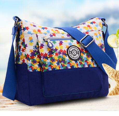 Summer Style Women Messenger Bags Fashion Waterproof Nylon Print Handbags Shoulder Bag Casual Lady travel Bags(China (Mainland))