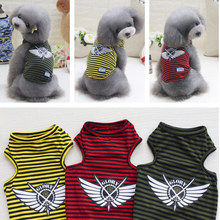 Buy Pets Dog Vest Striped Cotton T-shirts Dog Clothes Small Dogs Puppy Cats Spring Smmer Dog Clothing Costume Supplies for $4.69 in AliExpress store