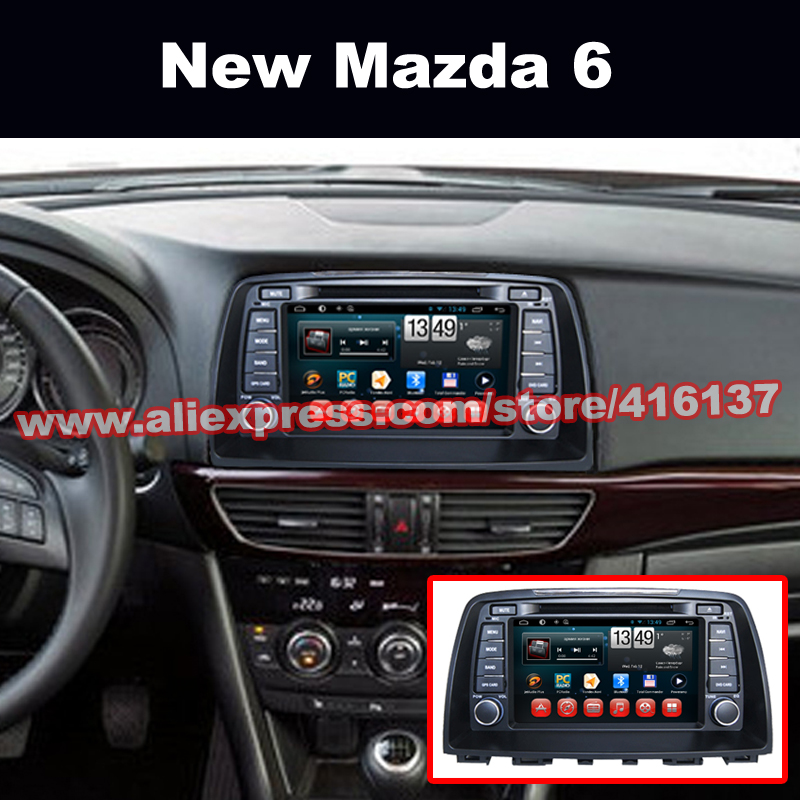 2 Din Andorid 4.4 Car Dvd for 2013 Mazda 6 with Bluetooth WIFI TV 3G iPod Radio OBD TPMS GPS System Quad Core 16G ROM(China (Mainland))