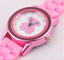 Nuevo 2015 ginebra mujeres vestido reloj Unisex doble cristal Dial relojes del silicón de moda analógica relojes casuales relogios femininos