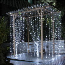 2016 3M x 3M 300 LED Outdoor Home Warm White Christmas Decorative xmas String Fairy Curtain Garlands Party Lights For Wedding(China (Mainland))