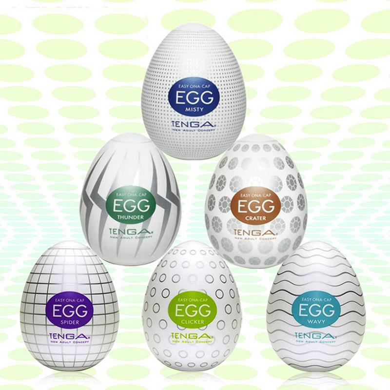 Гаджет  6pcs / Set  Male Masturbator Tenga Eggs Cup Japan Silicone Artificial Pocket Pussy Adult Sex Products For Men None Красота и здоровье