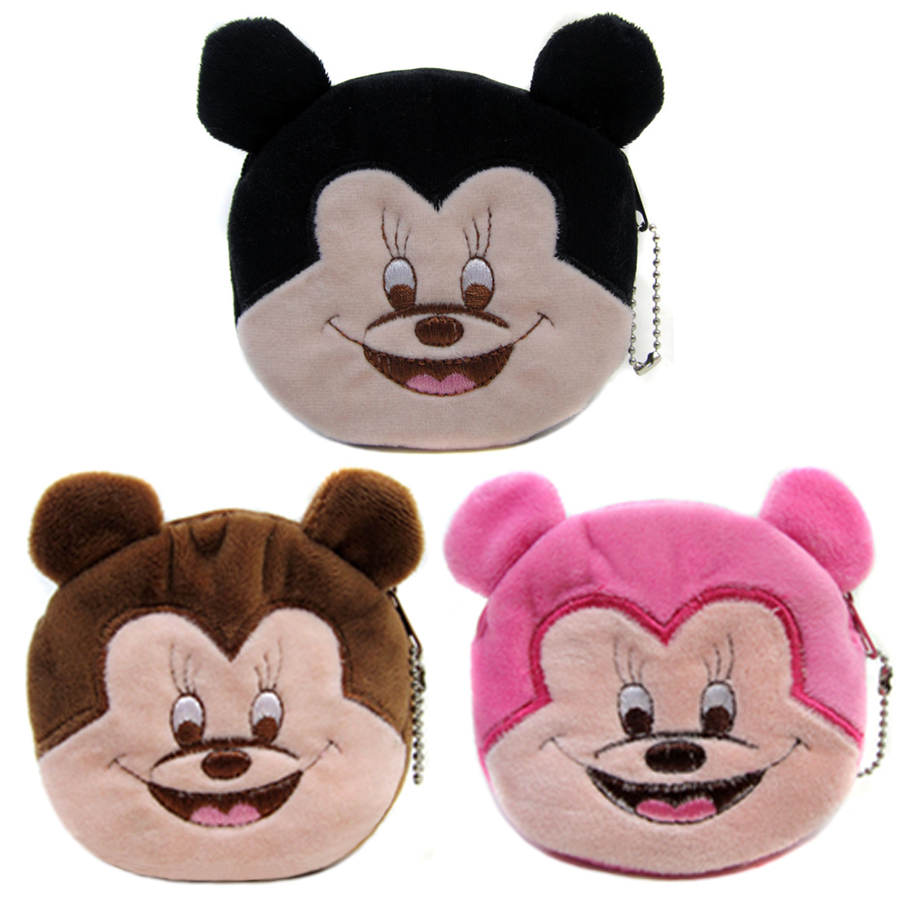 2015 Popular Character Mouse Girl Mini Bags Women Cartoon Coin Wallets Plush Zipper Pouch SY3137<br><br>Aliexpress