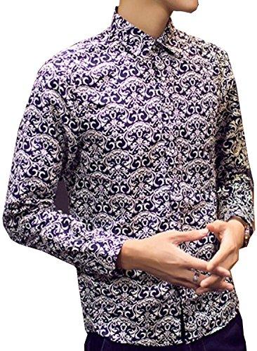 YUNY Men's Print Shirt Non-Iron Washed Premium Dress Shirts(China (Mainland))