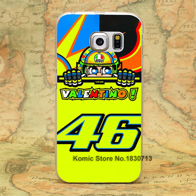 toalla valentino rossi vr46 Design hard transparent clear Skin Cover Case for Samsung Galaxy S3 S4 S5 S6 S6 edge(China (Mainland))