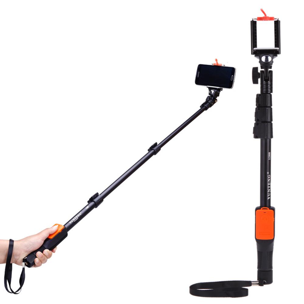 Aliexpress Com Professional Yunteng Yt 1288 Selfie Stick Strong Tripod Monopod For Mobile Extendable Handheld Pole