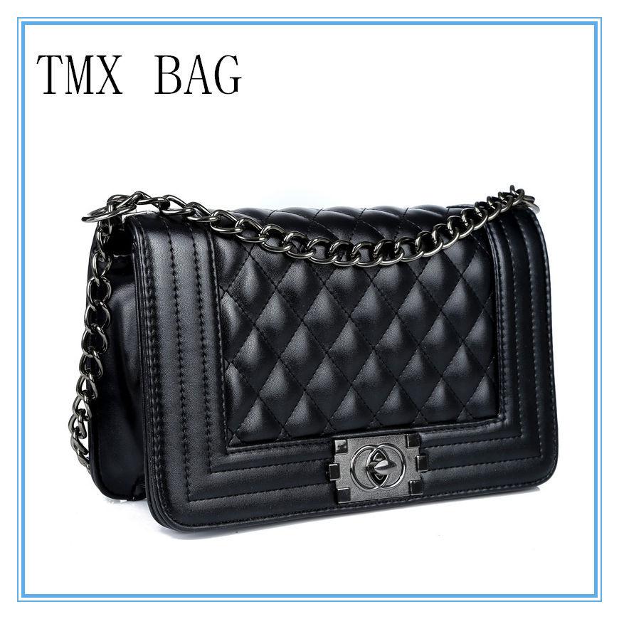 Fashion Ladies luxury PU Leather Handbags shoulder bags for woman brand Vintage Plaid Hasp Chain women messenger bag(China (Mainland))