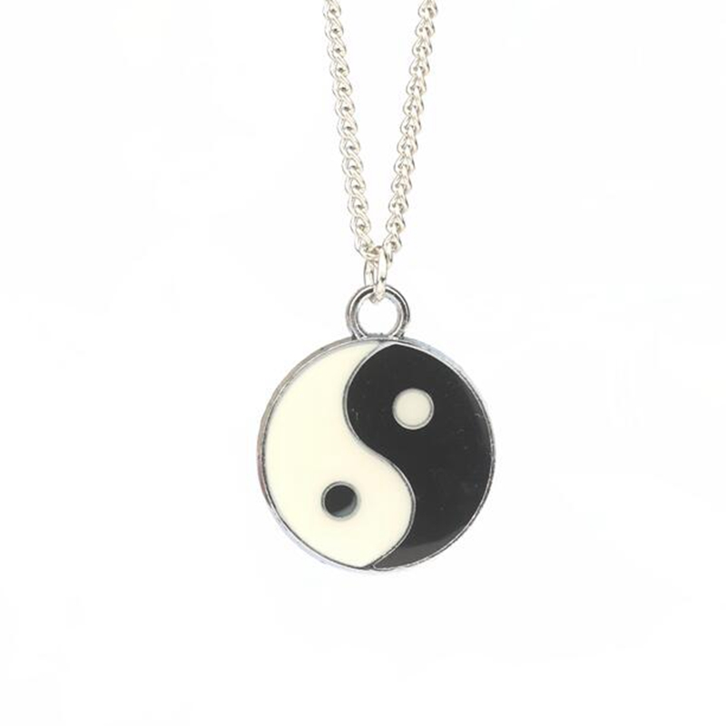 New Fashion Necklace Women Jewelry 1pcs Antique Silver Yin End Yang Pendant Necklace Men Boy Jewelry 60cm S2341(China (Mainland))