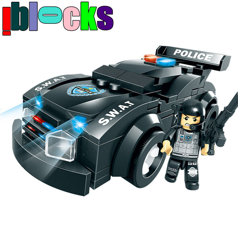 146/161pcs Swat Corps Patrol Car Military Minifigure Building Blocks Set City Police LEGOs Brick Compatible Children Boy Toys(China (Mainland))