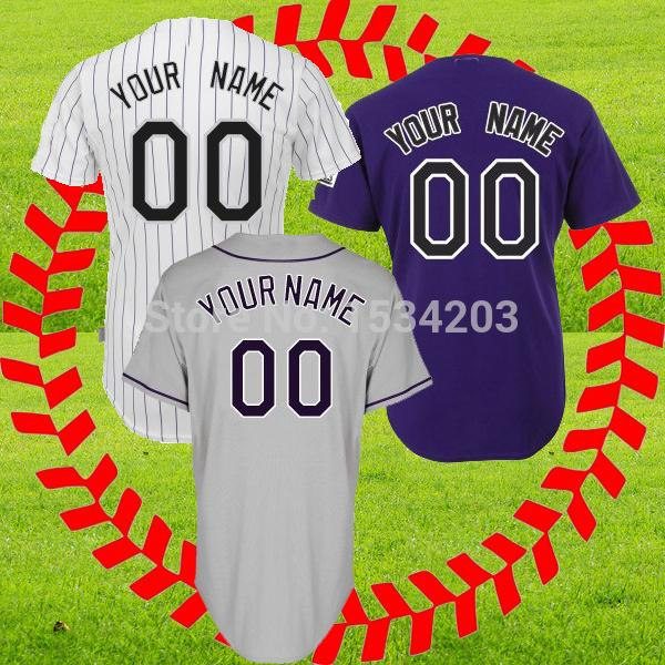 custom Colorado baseball jersey Stitched cheap authentic sportswear jerseys Customized gray on field fashioners free shipping(China (Mainland))