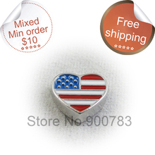 Floating locket charms,national flag of United States charms,patriotic charms,heart charms(China (Mainland))