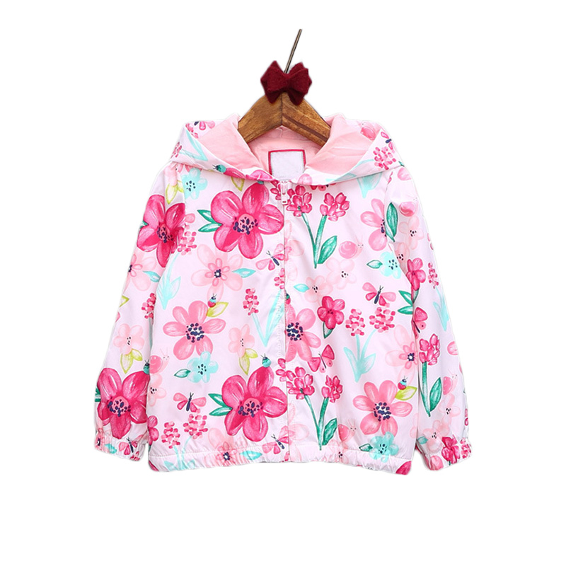 New Baby Girls Jacket Casual Hooded Outerwear Girls Coat Floral Winter Kids Clothing Children Jackets For Girls Fashion Cardigan(China (Mainland))