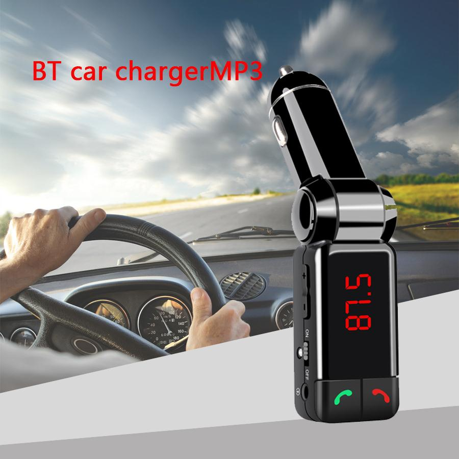 Mini Portable Mp3 Bluetooth Car Kit Fm Transmitter Lcd Usb Charger Handsfree For Iphone Sansung Free Shipping 8012 Motor Parts And Accessories
