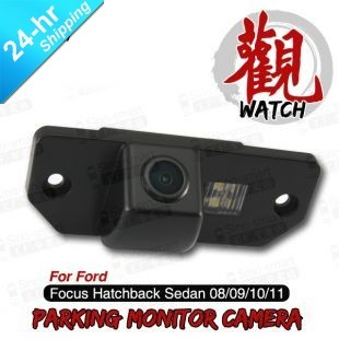 Free Shipping Wired HD CCD Car Parking Reversing Camera for Ford Focus Hatchback Sedan 08/09/10/11 etc. Night Vision Waterproof
