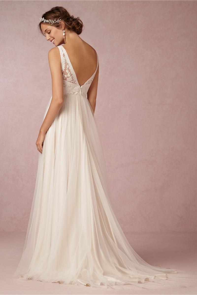 Beautiful V Neck A Line Wedding Dress No Lace Bella Forte Glass Studio With Back