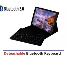 Portable Split Combo 2in1 Wireless Bluetooth Keyboard Stand Leather Case For Apple iPad Pro 12.9 inch Tablet Laptop, 40pcs DHL(China (Mainland))