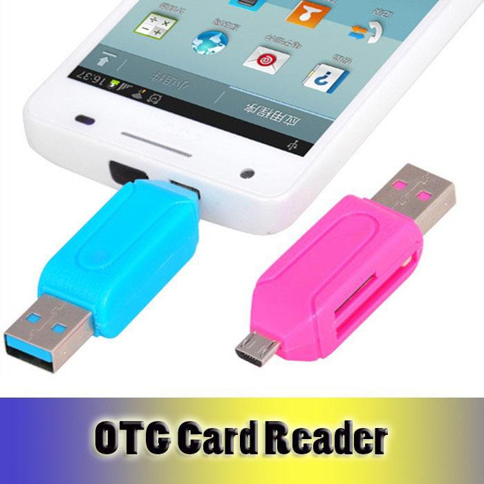 Universal Micro USB OTG Card Reader Micro SD SD Card Adapter Smart USB Card Reader for