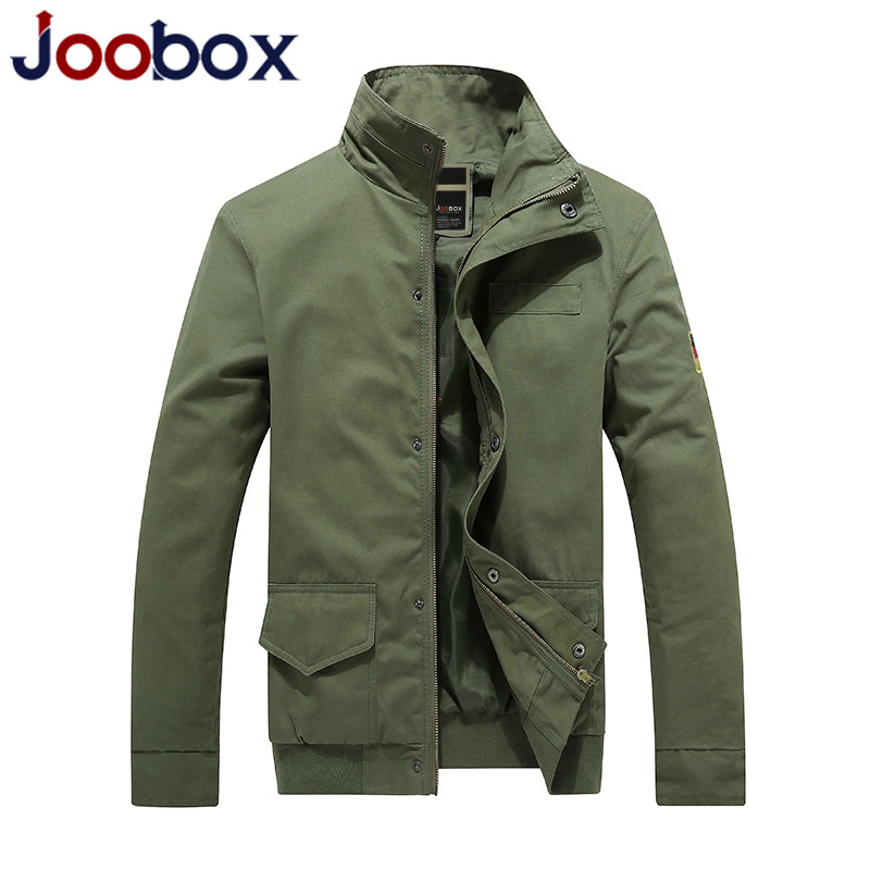 JOOBOX Brand Clothing Men 2016 New Fashion Casual Jacket Men Big Yards Cotton Solid Stand collar Bomber Jacket Male(China (Mainland))