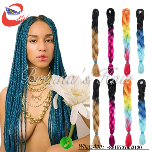 Box Braid Crochet Hair Jumbo Twist Braids Cosplay Extension Braiding