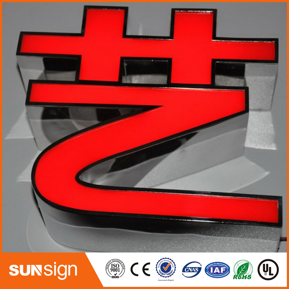 Custom advertising outdoor LED channel letters sign for names of electronics shops(China (Mainland))