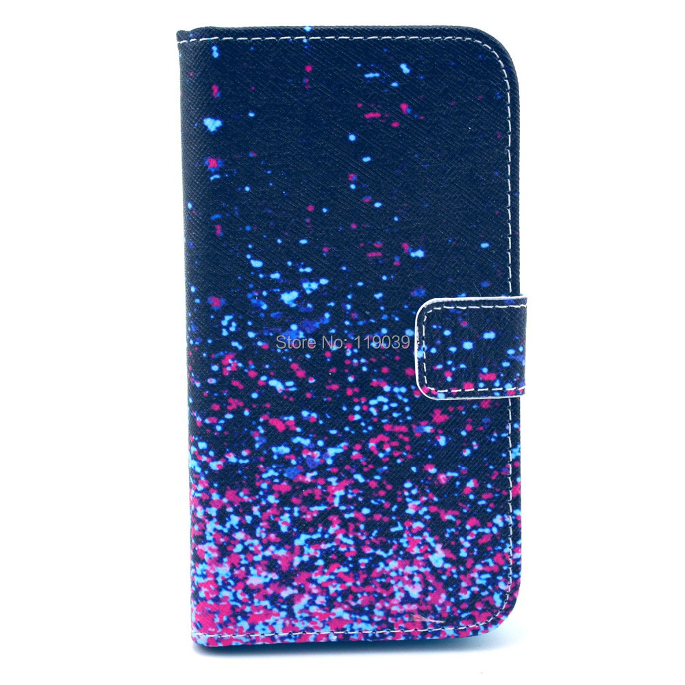 Free shipping For Samsung Galaxy s4 i9500 case purple star night sky leather Case Cover skin For Samsung Galaxy s4 i9500(China (Mainland))