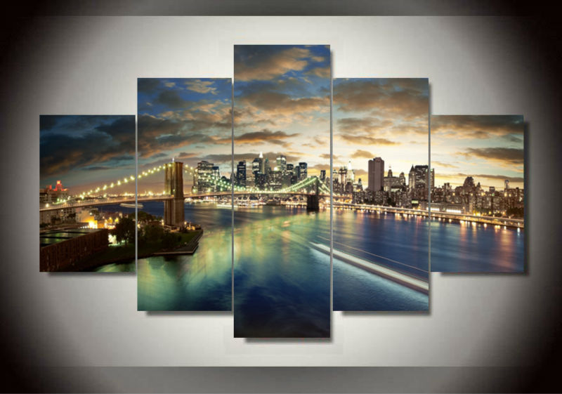 Bridge Painting Canvas Wall Art Picture Home Decoration,Living Room Gift,Wall Pictures Bedroom,Printing F/468 - Dafen art store