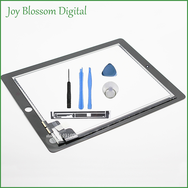 For iPad 2 Touch Screen Digitizer For iPad2 With 3M Adhesive As Gift  Black Color And Free Open Tools Free shipping(China (Mainland))