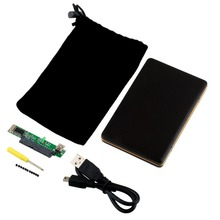 "[Newest] 1pcs 2.5"" USB 2.0 SATA HARD DISK DRIVE HDD CASE ENCLOSURE 100% Brand(China (Mainland))"