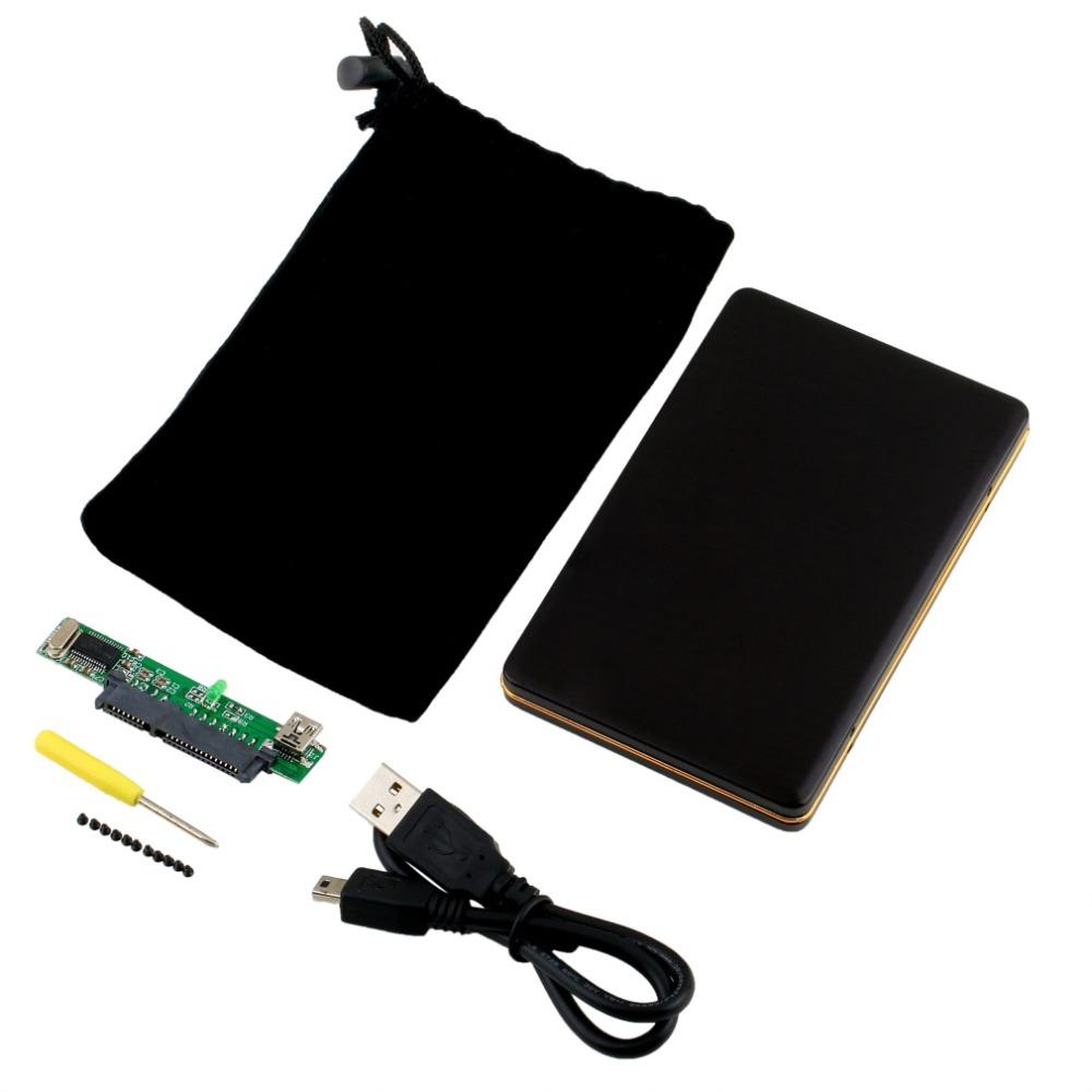 """[Newest] 1pcs 2.5"""" USB 2.0 SATA HARD DISK DRIVE HDD CASE ENCLOSURE 100% Brand(China (Mainland))"""
