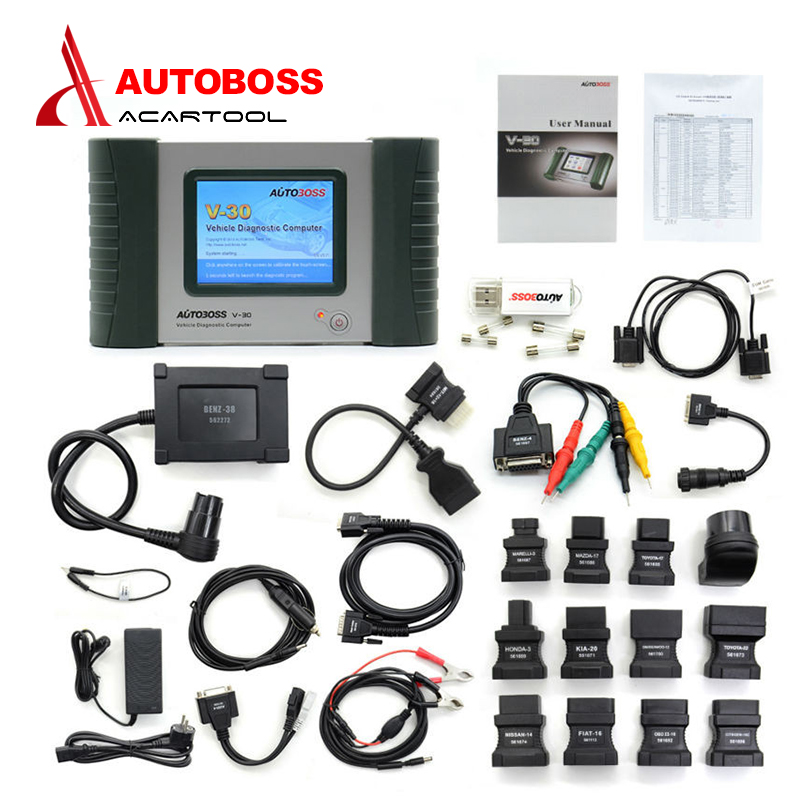 2016 Original Autoboss V30 Free Update Online Auto Diagnostic Tool Car Code Scanner Reader for America Europe Cars Free shipping(China (Mainland))