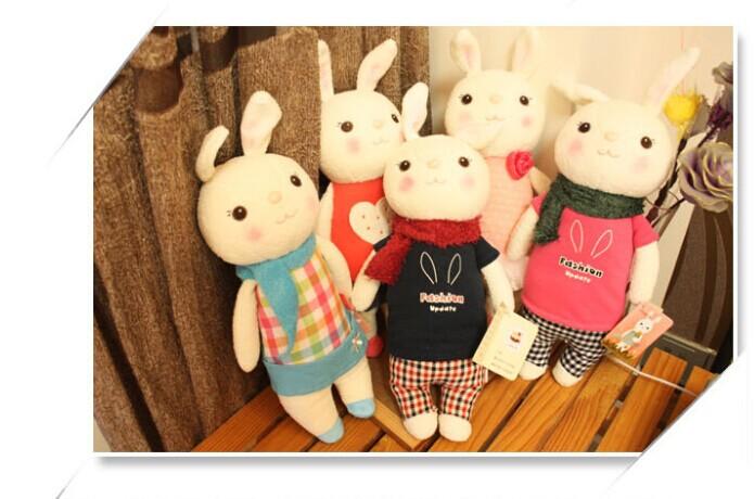 Free Shipping Retail Metoo Rabbit Tiramisu Toys Bunny Stuffed Plush Animals Girl Toy Soft Doll Best Gift for Children(China (Mainland))