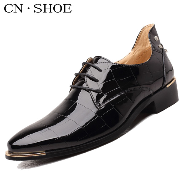 2016 New High Quality Men Leather Oxfords Flats Shoes Pointed Toe Fashion Casual Lace-Up Shoes<br><br>Aliexpress
