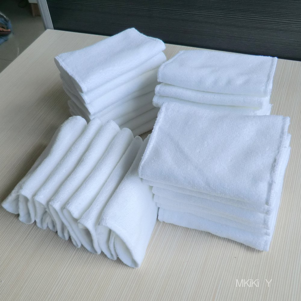 FREESHIPPING WHOLESALE 100 Pads 100% Microfiber BABY CLOTH NAPPIES LOT ONE SIZE FIT MOST LINERS INSERTS SOAK PAD(China (Mainland))