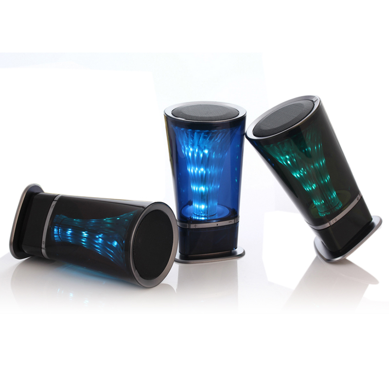 2015 New Arrival Wireless Bluetooth Speaker Subwoofer Stereo Speakers With TF Card FM Radio 360 Degrees Pulsating Bright Lights(China (Mainland))
