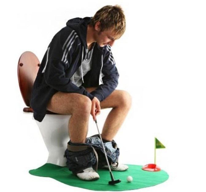 1Set Potty Putter Toilet Golf Game Mini Golf Set Toilet Golf Putting Green(China (Mainland))