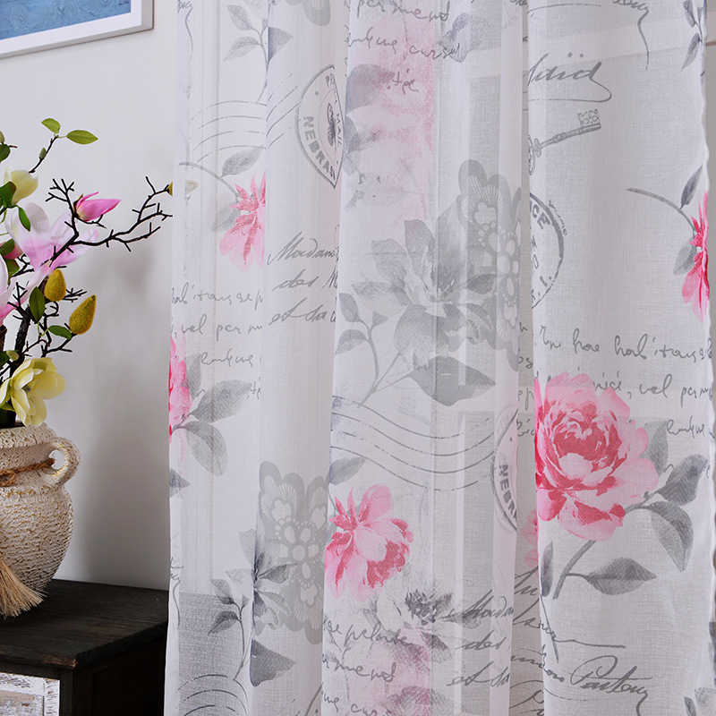 fabric sheer tulle curtains for bedroom flowers priority mail children Curtai