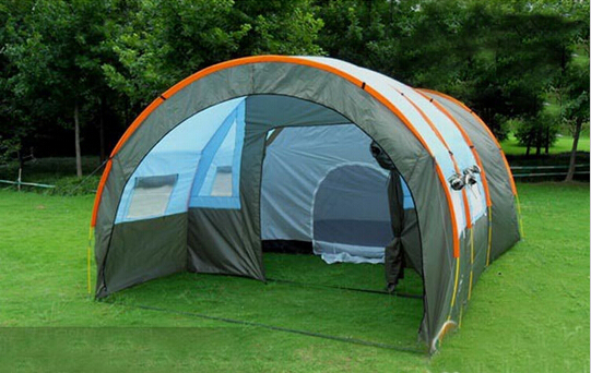 1x 480*310*210cm big doule layer tunnel tent 5-10 person outdoor camping family party hiking hunting fishing tourist tent house<br><br>Aliexpress