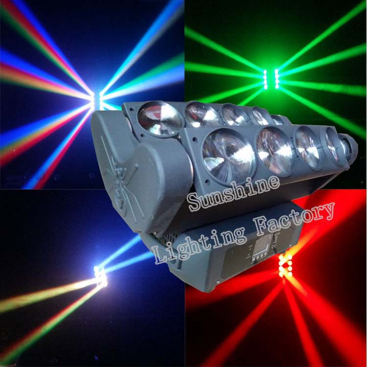 Free shipping Spider 8X10W CREE Led Moving Head RGBW 4 In 1 Moving beam Light Stage, Bar Moving head wash stage Lamp(China (Mainland))