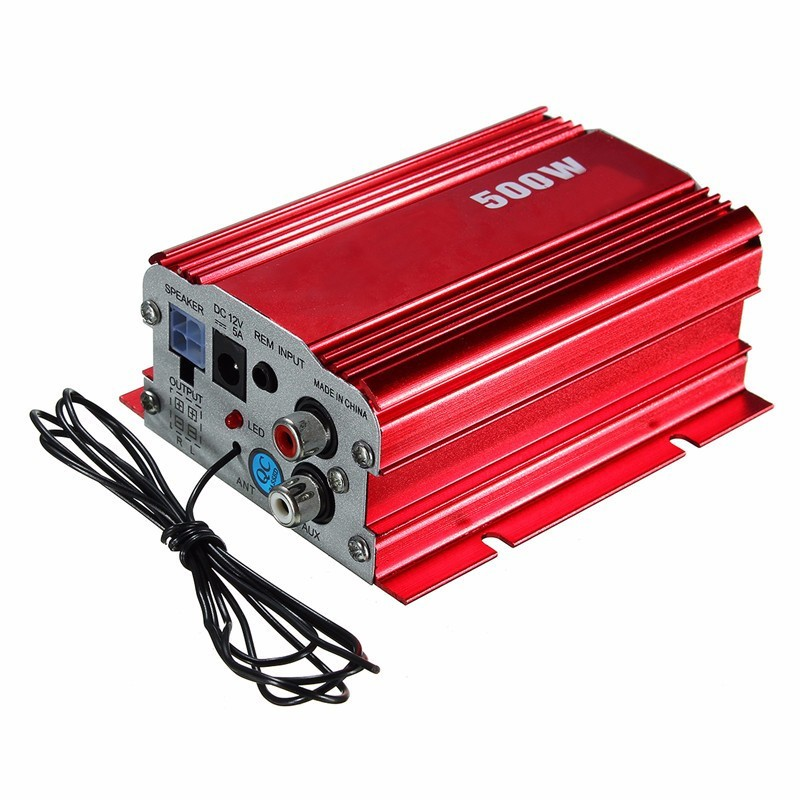 Hi-Fi Power Amplifier 500W 2 Channel Stereo Audio MP3 USB Car Vehicle Remote For Shopping Malls Hotels Family(China (Mainland))