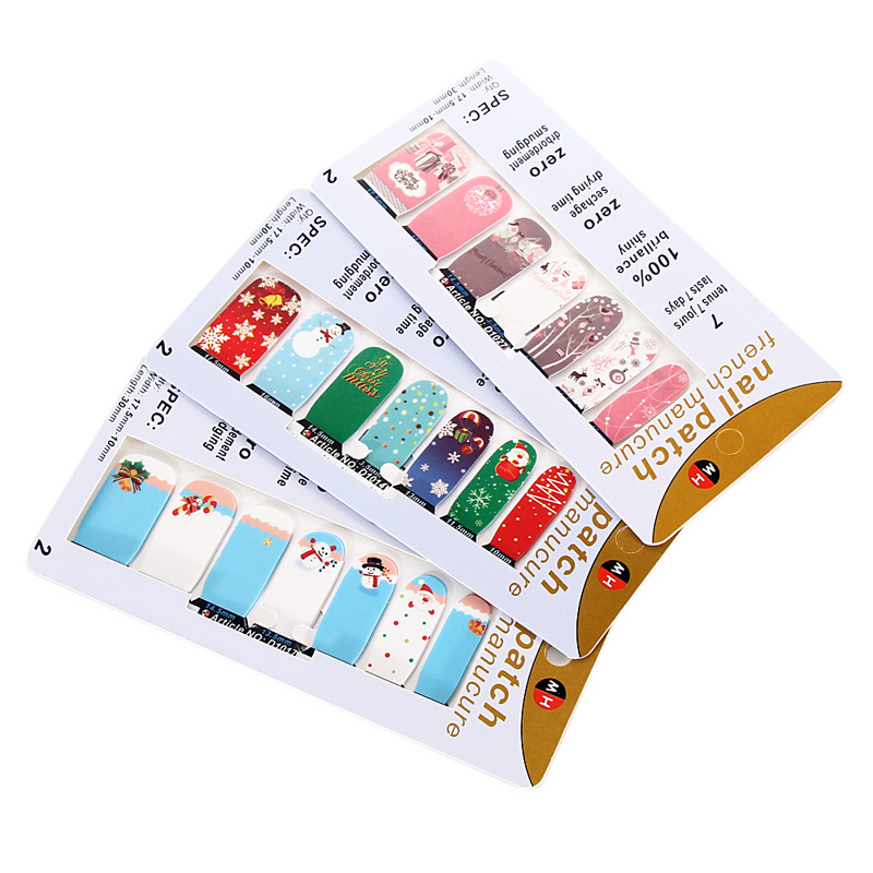 T2N2 Fashion Colorful 3D Sparkle Christmas Nail Art Stickers DIY Decoration(China (Mainland))