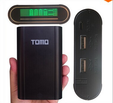 TOMO multi function power bank 18650 battery case/box 1A 2A output 18650 charger DIY LCD display power bank for pad and phone(China (Mainland))