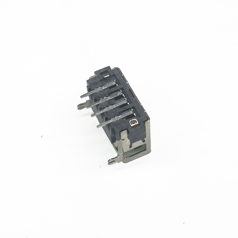 10Pcs/Lot Type A Female USB 2.0 Short body 4 Pin 2 Foot 90 Insert direct Data Charge Plug Socket Jack Connector Wire Adapeter