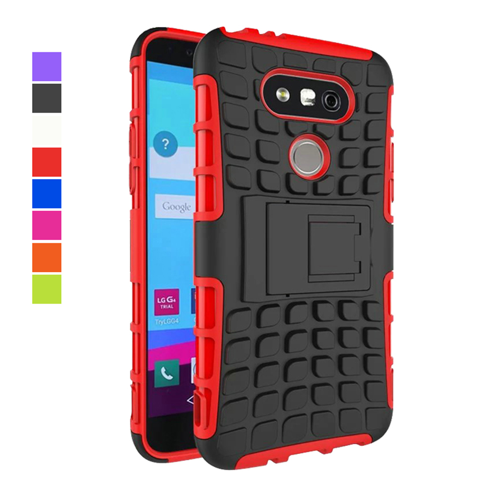Luxury Mobile Phone Case 2 IN 1 Heavy Duty Shockproof Armor Case for LG G5 Cover Plastic Back Cover Cases with Kickstand IDOOLS(China (Mainland))