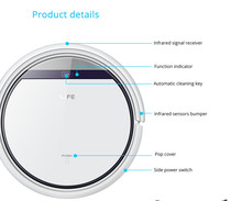 Robot Vacuum Cleaner for Home Slim HEPA Filter Cliff Sensor Remote control Self Charge V3 ROBOT ASPIRADOR free drop shipping(China (Mainland))
