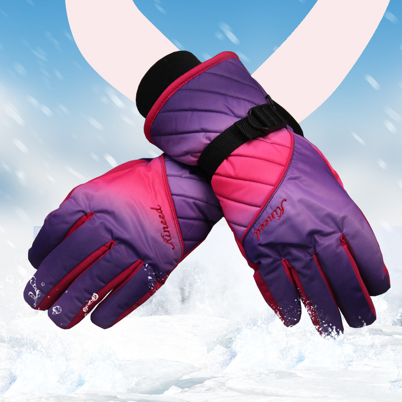 Women Ski Gloves Colorful Winter Warm Motorcross Bike Cycling Mountain Skiing Glove - Challenger store