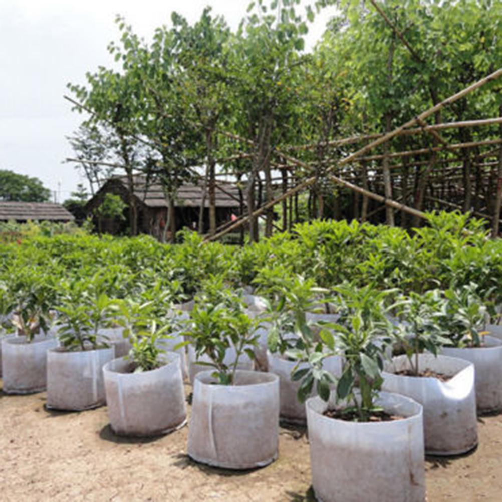 Reusable Round Non-woven Fabric Pots Plant Pouch Root Container Grow Bag Aeration Container Garden Supplies pot de fleur 1PC(China (Mainland))