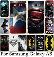 Мобильный телефон чехол для Samsung Galaxy A5 A500 A5000 супермен логотип бэтмен человек паук капитан америка чехол кожного покрова