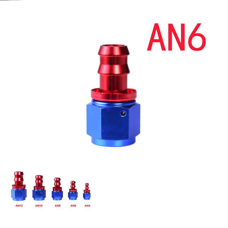 AN6 0 Degree Fuel Push-On Fitting Oil Cooler Hose Fitting Reusable Straight Hose End Adapter Aluminum Fitting AN Fitting(China (Mainland))